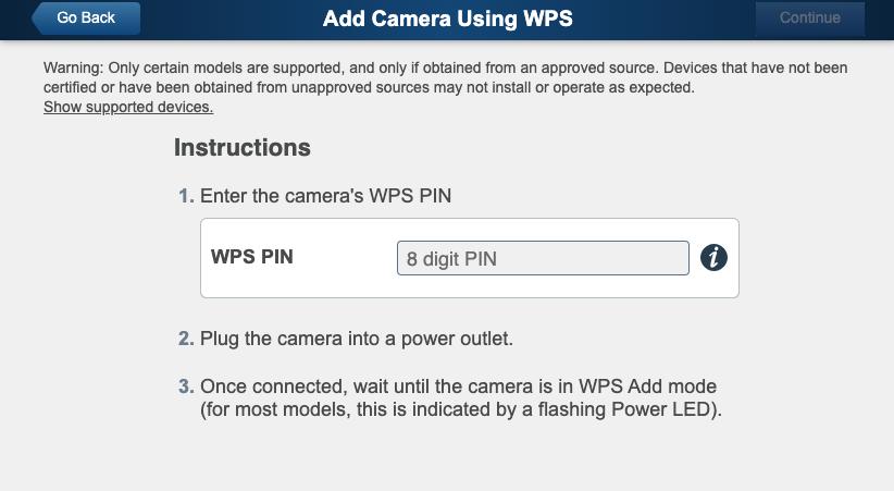 Add ADT Pulse Camera using WPS