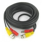 Premade Siamese Cable – Coax and power – 100ft Black