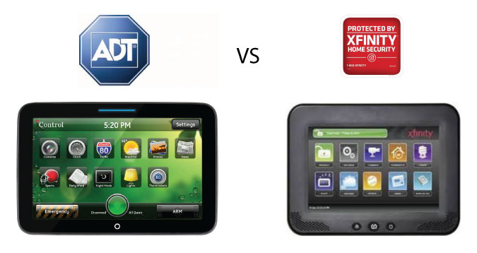 What are the differences between ADT Pulse and Xfinity Home