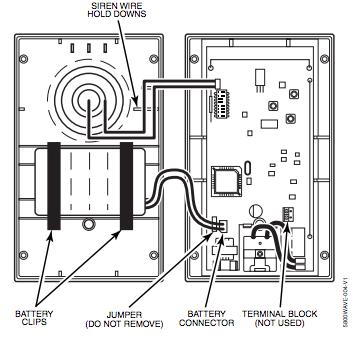 Open view of TS Wireless Siren
