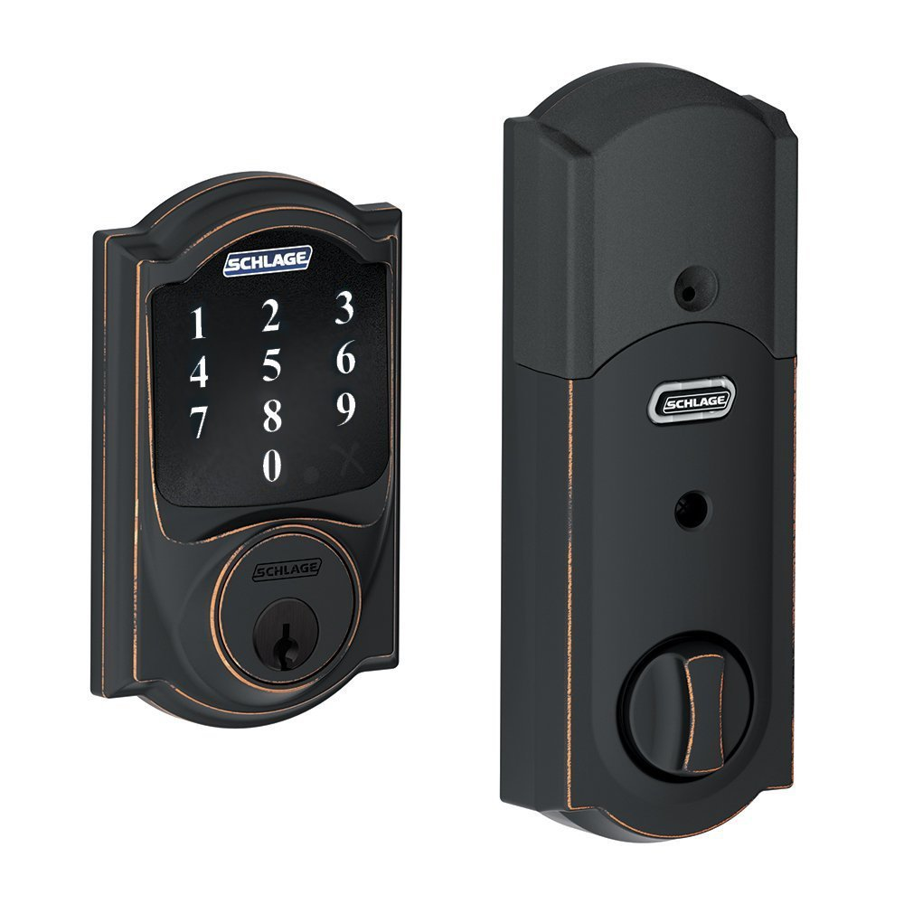 schlage touchscreen deadbolt be468 camelot 619 or 716. Black Bedroom Furniture Sets. Home Design Ideas