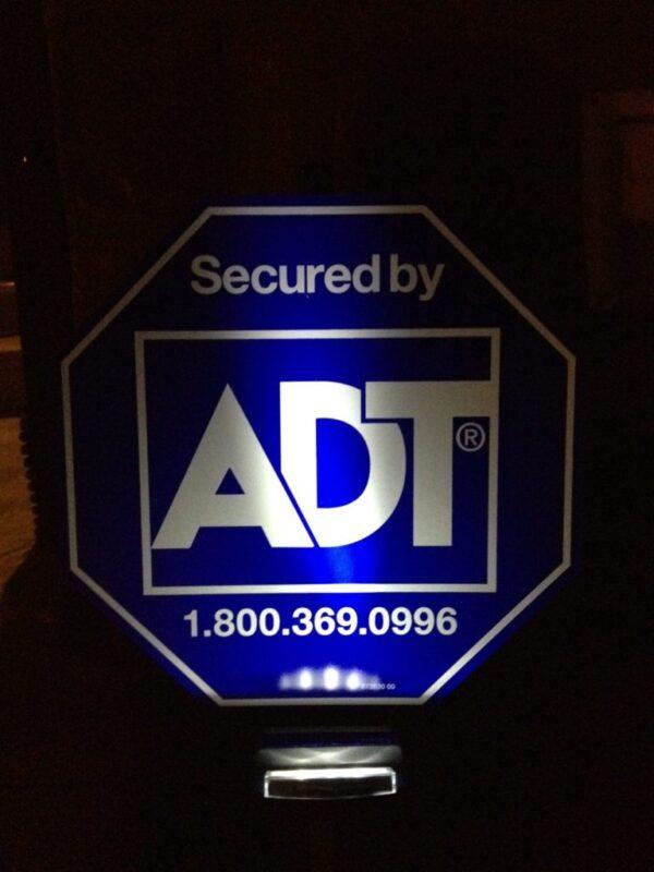 adt yard sign light