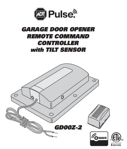 Adt Pulse Garage Door Remote Controller Z Wave By Linear Gd00z
