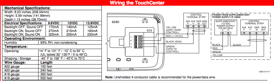 wiring the Safewatch Pro Touchscreen Keypad