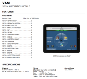 Vista Automation Module VAM