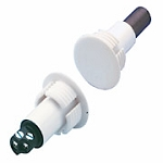 "ADT Hardwired Recessed Steel Door Sensor 3/4"" with Terminals"