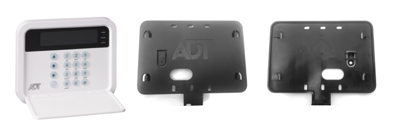 adt ts keypad wall mount plate for adt pulse system. Black Bedroom Furniture Sets. Home Design Ideas