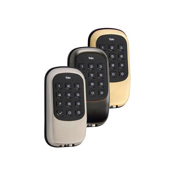 Yale Push Button Keyless Deadbolt Adt Pulse Approved Smart