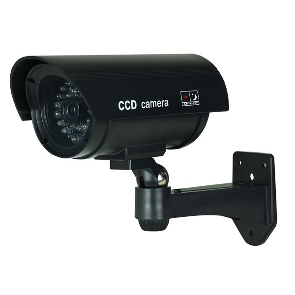 Dummy Security Camera Bullet Black w/ Blinking Red LED