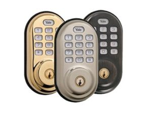 Yale Real Living Push Button Z-wave Deadbolt