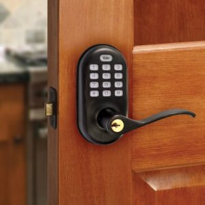 Yale Security Lever Push Button with Z-wave