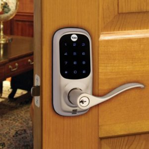 Yale Touchscreen Lever with Z-wave