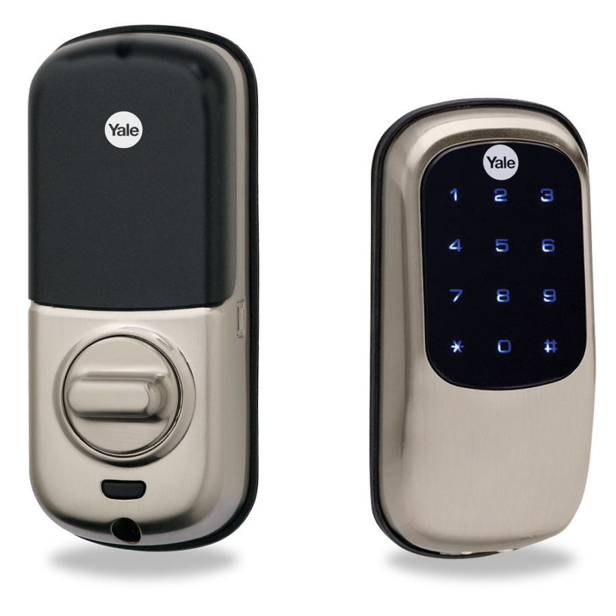 Yale keyless touchscreen deadbolt for adt pulse or for Adt z wave door lock