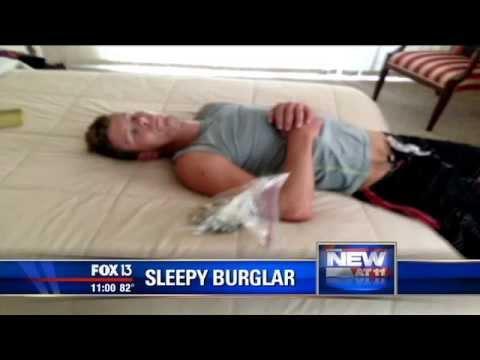 sleeping burglar