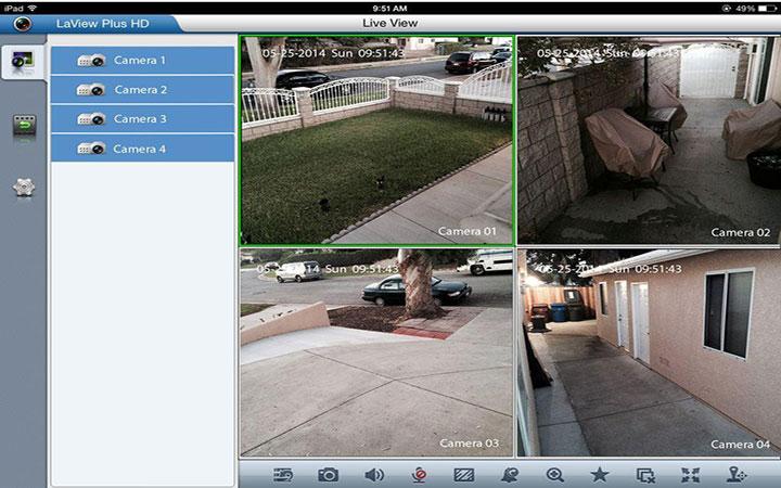 NVR Screen view