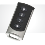 Interlogix 4 Buttton Chrome Keychain Remote