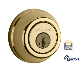 Kwikset signature z wave deadbolt with no keypad zions for Adt z wave door lock