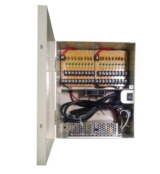 Power Supply Box 12V 12Amp 18 Port