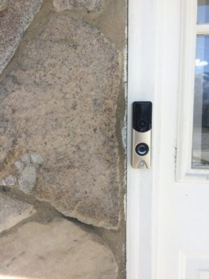 slimline alarmcom doorbell camera chrome