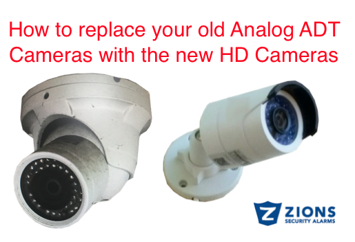replace my old adt cameras -How to replace your old analog adt cameras with the new hd cameras