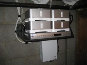 4 sonos connect in basement with DVR