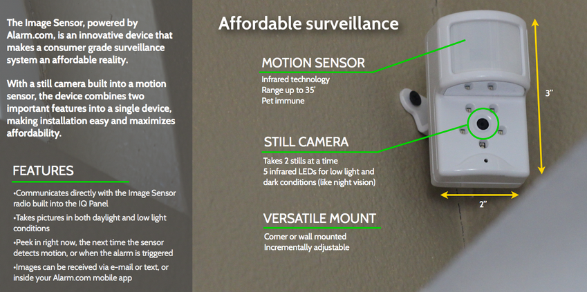 Qolsys Image Sensor features