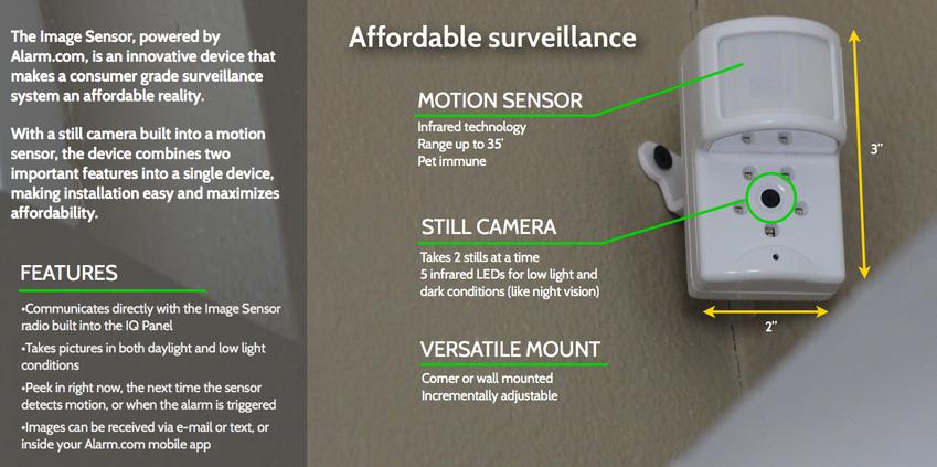 Qolsys Image Sensor features