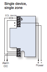 Wired ADT Carbon Monoxide Detector wiring diagram