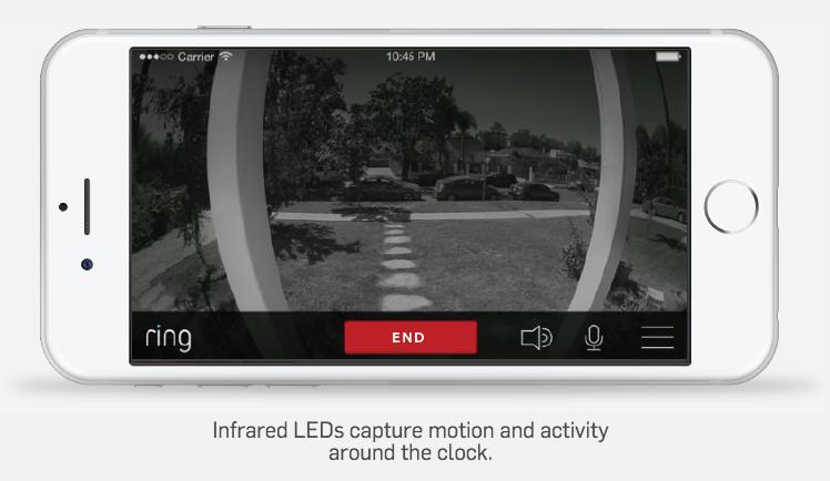 ring doorbell infrared