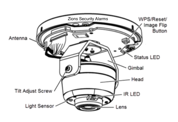 ADT Pulse Dome Camera MDC835 Components