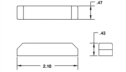 Surface Mini Contact with 3/4 inch gap dimensions