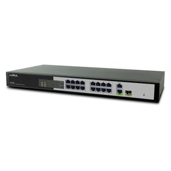 18 Port-16 PoE 2 Gig Uplink Switch