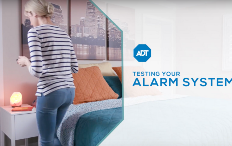 test my adt security system