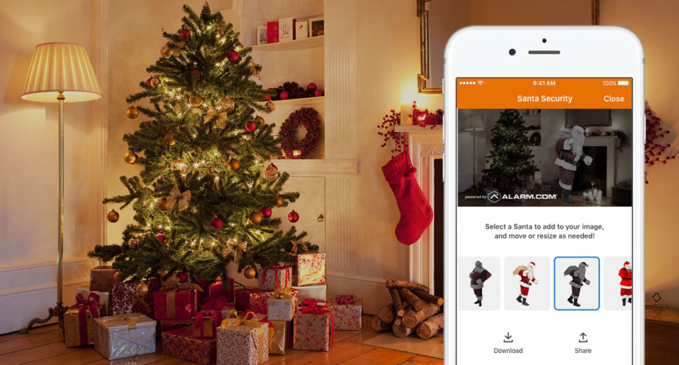 Catch Santa Claus this Christmas with Alarm.com Cameras