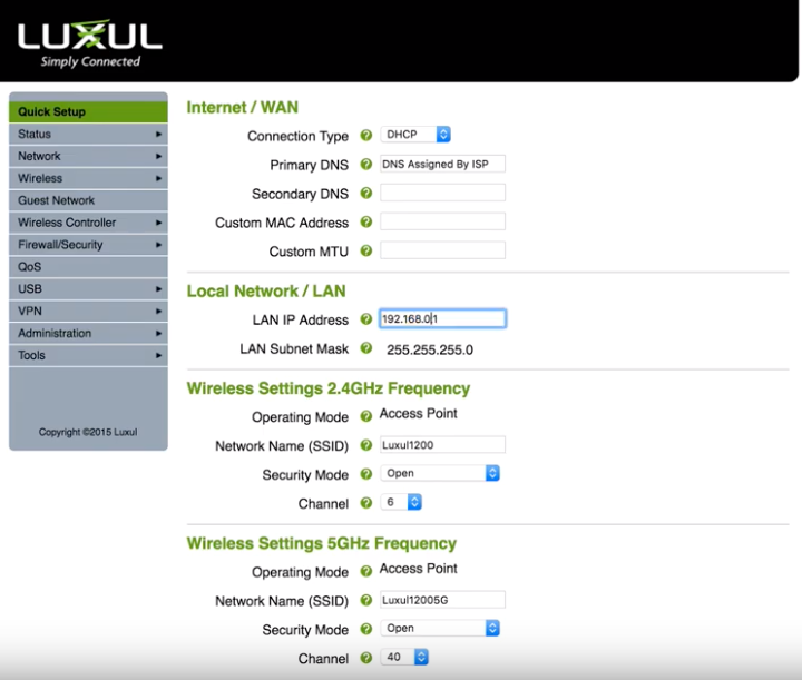 How to set up your Luxul Router - Zions Security Alarms