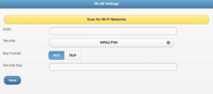 ADT Control Camera add WiFi login screen