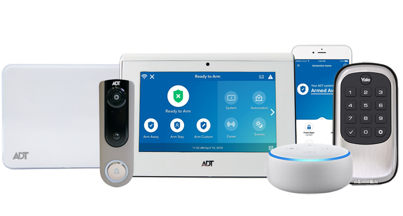 ADT Command Control Kit With Doorbell Thermostat And Lock