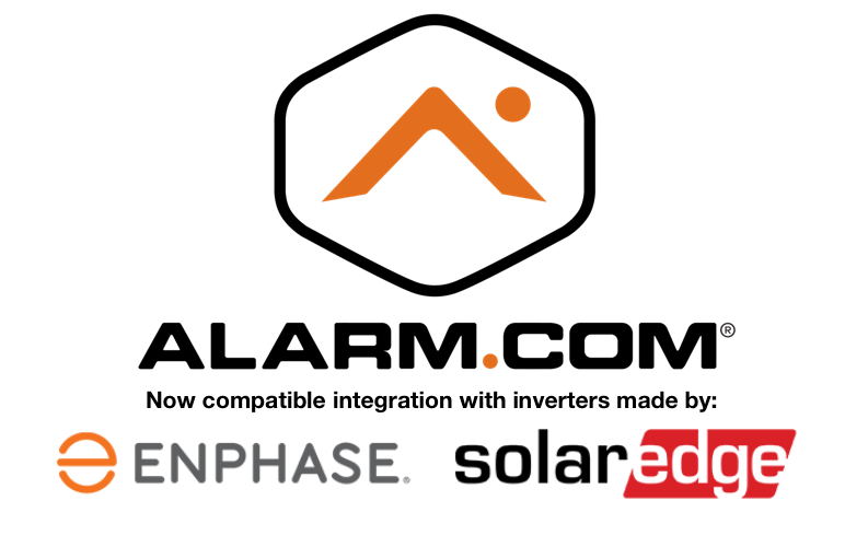 Alarm.com Solar Integration with Enphase and solaredge