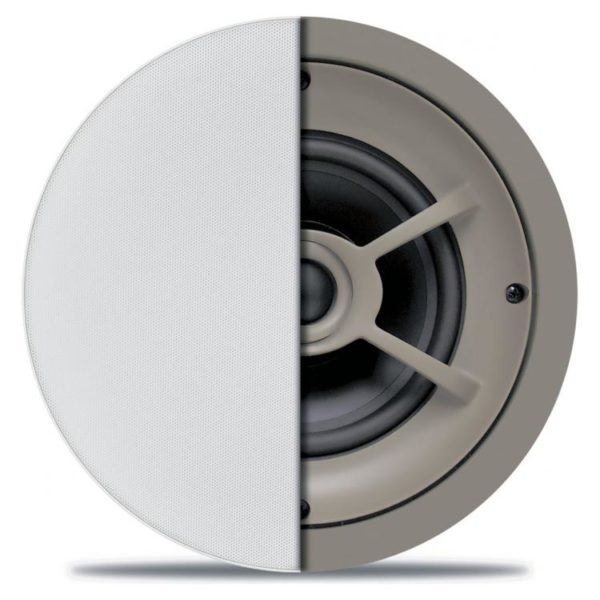 "The 8"" Ceiling Woofer can be put into your ceiling and provide quality stereo sound to whichever room they are installed in. This is the perfect Ceiling mounted speaker, with its silky smooth sound and a tough dome woofer that provides quality low bass. This speaker is high power and a capable compact speaker with great sound that you won't get with most other speakers. The speaker comes with a tweeter that can pivot so you direct the sound to whenever you need it. Furthermore, It is a 6-1/2"" ceiling speaker making it small and not very noticeable and will blend into your ceiling because of its white cover. Also, This works great if linked up to the Sonos Amp and wire up all of your speakers with this 16/4 sound cable or our 16/2 cable. If you want other speakers that fit your room better check them out here on our website."