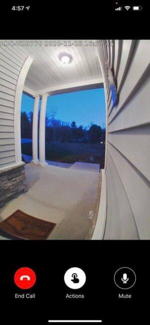 Alarm.com Doorbell Porch View